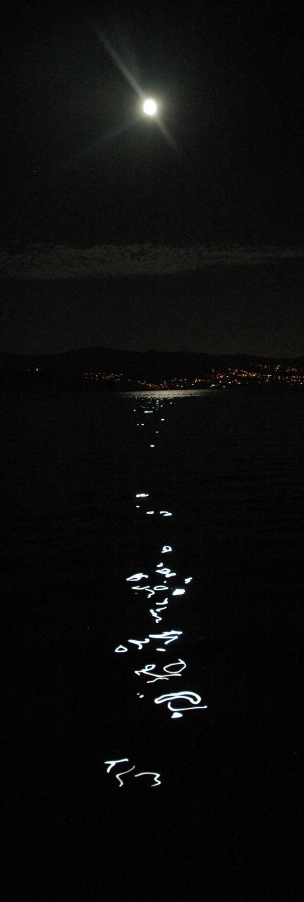 Luna llena sobre la Ría de Pontevedra  - Foto por Mi Lawrence - www.milawrence.com