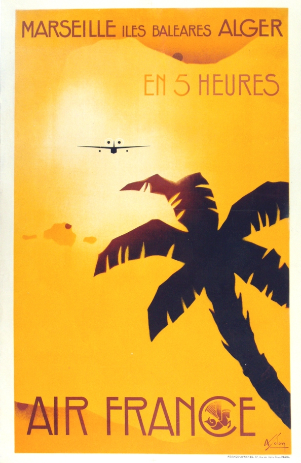 Póster Air France Argelia