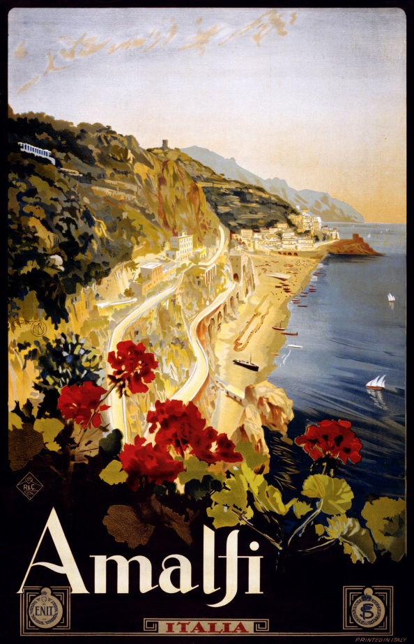 Póster Amalfi 1910 - 1920