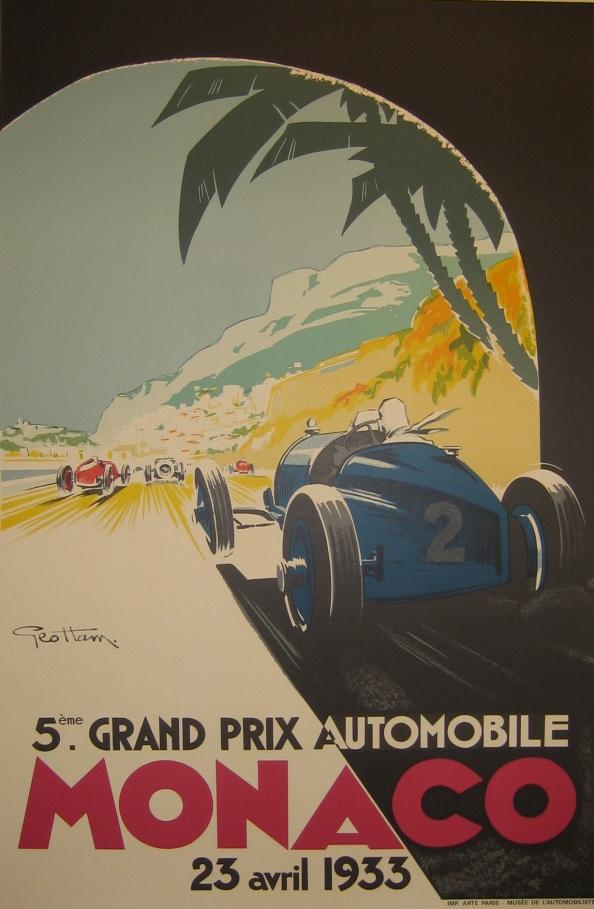Póster Mónaco 1933