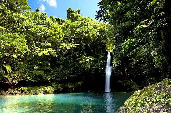 Cascada, turismo de Samoa