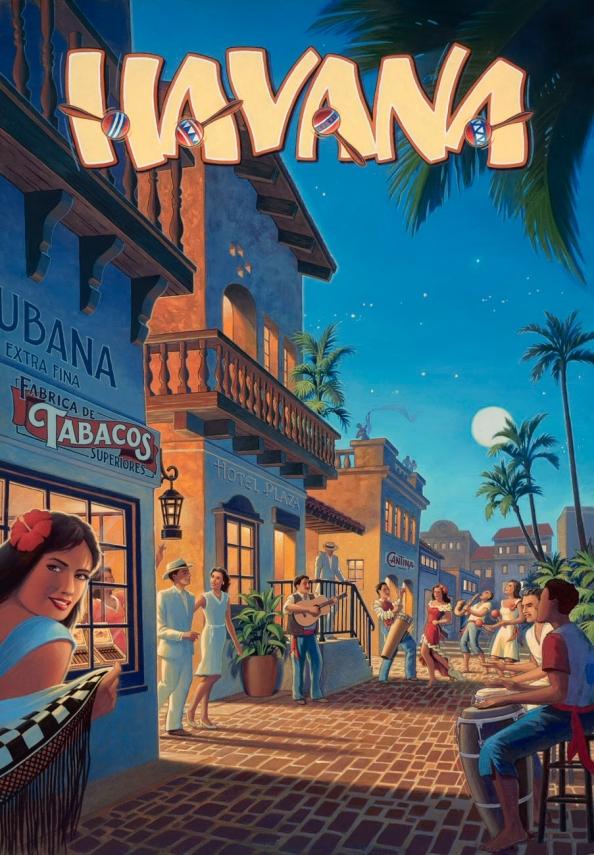 Póster Vintage La Habana