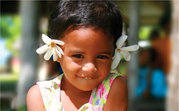 Niña de Samoa, Foto Oficina de turismo de Samoa