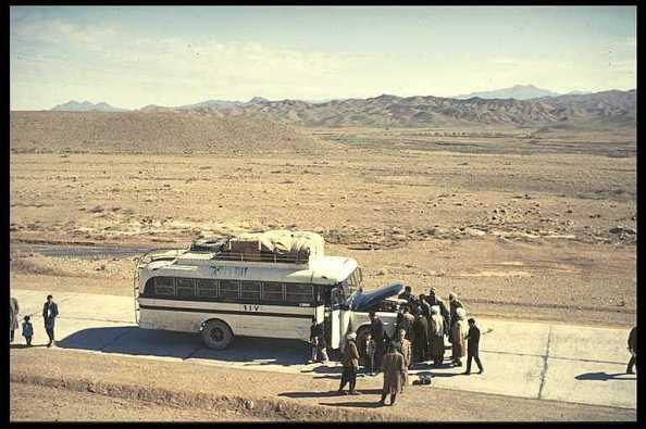 Travesía en autobús por el Sur de Afganistán. Foto Erik Pontoppidan www.ponty.dk