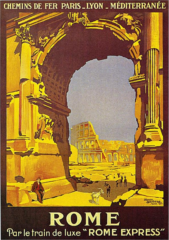 Póster de viaje vintage - Roma