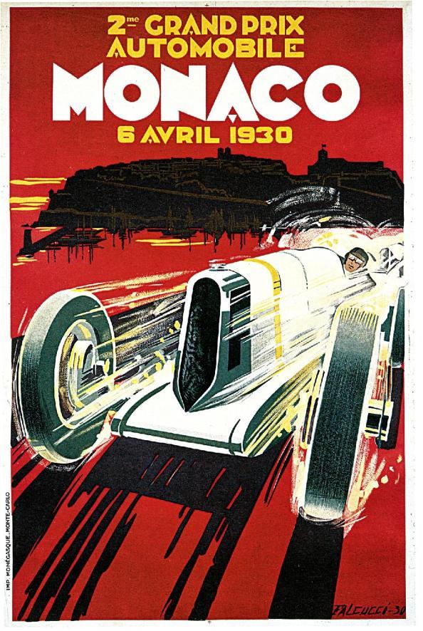 Póster de viaje vintage - Mónaco
