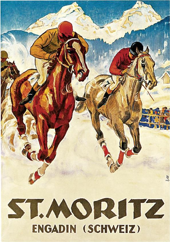 Póster de viaje vintage - St. Moritz