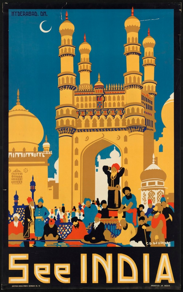 Póster de viaje vintage - India
