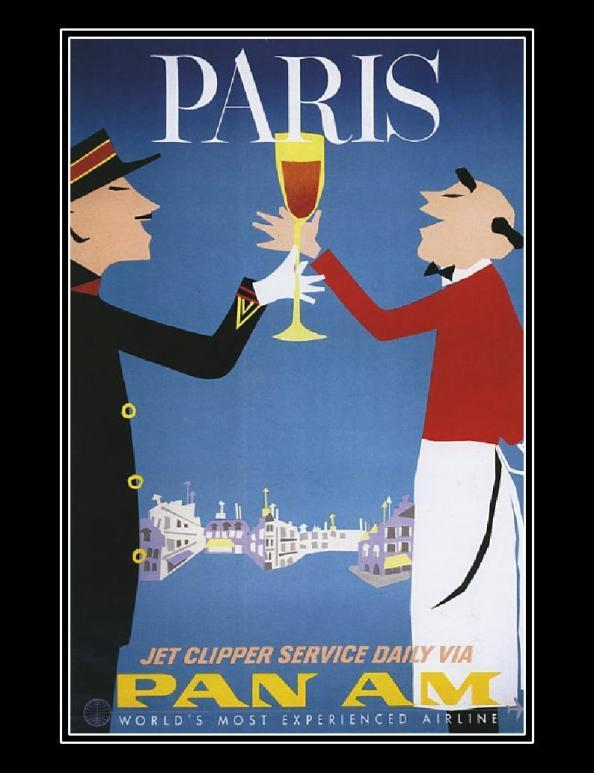 Póster de viaje vintage - Paris
