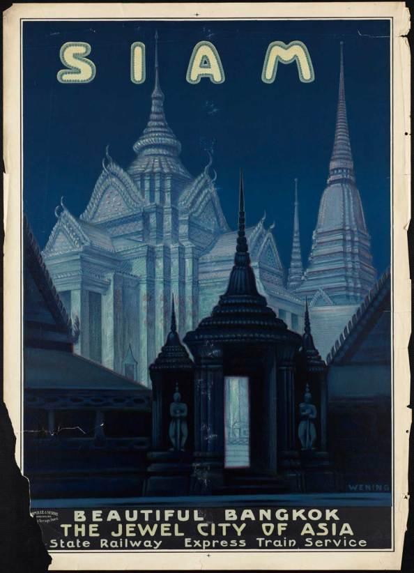 Póster de viaje vintage - Siam
