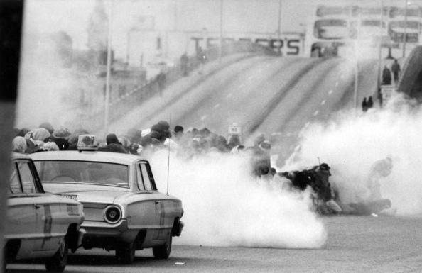 Ataques en Pettus Bridge, Protestas de Selma, Alabama, 1965.