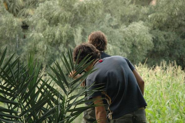 Ifri, paseando por el palmeral, Marruecos - Foto por Mi Lawrence