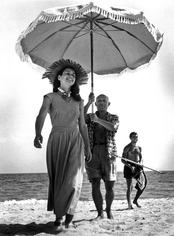 Pablo Picasso y Françoise Gilot - Foto Robert Capa
